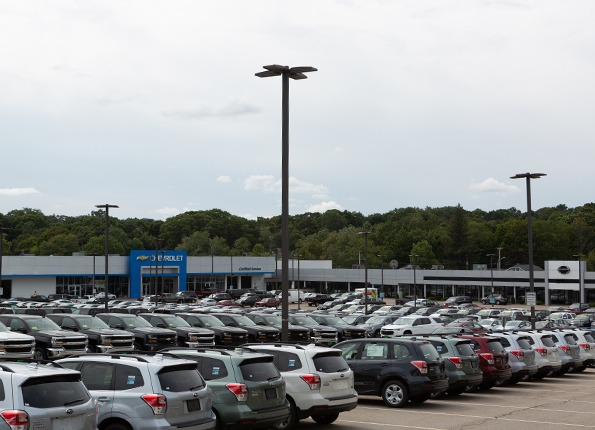 LightMart LED Fixtures and Light Poles at a Chevrolet Dealership