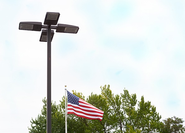 LightMart Pole Kit with the American Flag