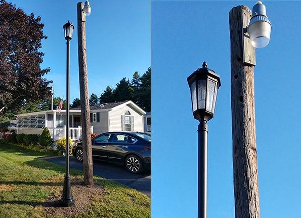 LightMart Lantern Decorative Pole Kit Replaces an Old Wood Pole