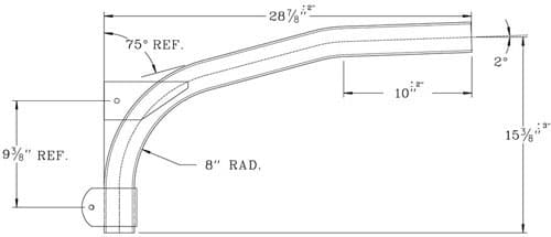 Cantilever Bracket WPB1014 Dimensional Drawing